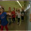 97/09/12 Teddy Bear Picnic - James Neiss Photo - Prince of Peace Kindergardeners follow a trail to the Teddy Bear Picnic at their school.