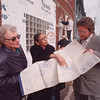 2/7/97 Fellowship House - James Neiss Photo - L-R - Carol Klenner, Coordinator of Fellowship Housing suportive Living Program, Husnara Sundram, Executive Dir of Fellowship House and Brian Weber, Project Mgr with Schott Contracting look over plans as work continues on the new facility at 1204 Niagara Street. Said whoever donates the most money can name the facility.
