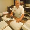 97/09/17 Belarmino Vallina - James Neiss Photo - Belarmino Vallina , Tuscarora Rd, is a volunteers at the Town of Niagara Clerks office.