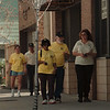 98/04/23--COMMUNITY WATCH--DAN CAPPELALZZO PHOTO--(LTOR) FRONT NICKEY MATHEWS, ALEX BURGESS AND CHERYL WAGNER AND (BACK LTOR) LORI RUSSELL AND DOUG PROCTOR, ALL AREA COMMUTY WATCH FOLKS WALK DOWN PINE  AVE .  SEE ATTACHED.<br /> <br /> SUNDAY 1A