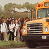 97/10/03 Accident Evacuation - James Neiss Photo - Students from Niagara Catholic and LaSalle Middle School were evacuated because of a accident involving toxic chemicals on the I-190 North bound. Truck in background.