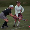 98/11/04 Girls Field Hockey *Dennis Stierer Photo -<br /> Wilson's #9, Katey Fleckenstein tries to steal the ball from Medina's #6, Katie Hermann.