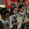 "05/07/98-- day of prayer --Takaaki Iwabu photo-- Students of Sacred Heart School sing ""Let There Be Peace on Earth"" as part of the School's National Day of Prayer ceremony. <br /> <br /> 1A, color, Friday"
