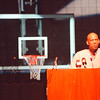 2/20/97 Kareem Abdul-Jabbar - James Neiss Photo - Kareem Abdul Jabbar speaks to students at NCCC.<br /> <br /> Niagara Commmunity College