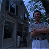 7/2/97 China Moon - James Neiss Photo - China moon Resturant owner Jim Lam infront of his Center Street, Lewiston Resturant.