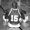 1/23/97 LaSalle VS NF - James Neiss Photo - Dejected - # 15 Phil Vincent was put on his butt durring the first qtr against LaSalle.<br /> Basketball