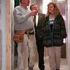 98/12/07 Celeb Spa-RACHEL Naber PHOTO-Bernie Hoffmeister (left) discusses the finishing touches that need to be done with Don Kennedy, village trustee and Edee Hoffmeister.