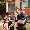 7/22/97--SALVATION ARMY/NEW CAPT.--DAN CAPPELLAZZO PHOTO--SALVATION ARMY CAPT. GREG HARTSHORN AND HIS WIFE JOYCE STAND WITH THEIR KIDS (LTOR) VALERIE, 8, HILLARY, 6, AND ZACHARY, 5, IN FRONT OF THE SALVATION HEADQUARTERS ON BUFFALO AVE.<br /> <br /> <br /> LOCAL