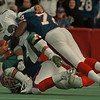 98/11/01--BILLS/SMITH/HANSEN SACK--DAN CAPPELLAZO PHOTO--BILLS DEF. PHIL HANSEN AND BRUCE SMITH TAKE DOWN MIAMI QB DAN MARINO IN THE 2ND QUARTER.
