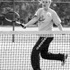 98/10/02 Footwork Practice *Dennis Stierer Photo -<br /> Rachel Fisher, a varsity tennis player for Lockport High gets in some practice during an off day.
