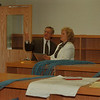 98/06/05 New School 2 - James Neiss Photo - Niagara Wheatfield School Superintendent Ron Mathews and  West Street Elementary School Principal talk about the long job of getting the school up and running by September. (not sure that is the name of the school)
