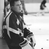 1/9/97-- NU hockey 3-- tak photo--Coach MacDonald leads the NU hockey team for its new era.