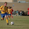 98/09/11 LHS Soccer-Rachel Naber Photo-Andrew Minderler takes the ball up field in the game against St. Francis.