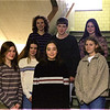 98/03/17 LHS Jan Students *Dennis Stierer photo - Students of the month for January, 1998 at Lockport Senior High School are from left in front Vanessa Lewis;  Jennifer Garlock;  Julie Rey;  Rachel Slowey and the back three are Megan Ferington; Keith Hazlet; and Jessica Bickett.<br /> BLACK AND WHITE PHOTO!!!!!