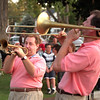 98/09/05 Middleport Celebrates *Dennis Stierer Photo -<br /> The Bourbon Street Brass played some great jazz Saturday evening for the folks in Middleport as part of the Labor Day Weekend long celebration. Here Lew Custode on trumpet and Phil Sims on the trombone play out a tune.