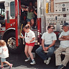 97/08/14-- summer picnic1--Takaaki Iwabu photo-- Children check out a fire truck during Summer Picnic & Carnival at Niagara No. 1 Fire Hall Thursday. <br /> <br /> tmc photo