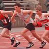 5/30/97 Track - James Neiss Photo - Wilsons Eric Henry competes in the 3200 Meter dash final at the Section VI State Qualifier held at UB.