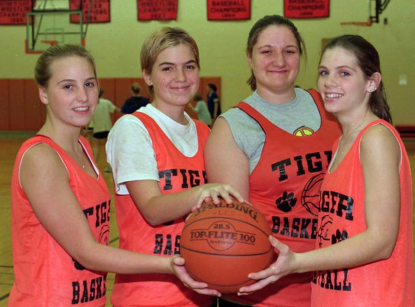 98/12/02 Lyndonville G'Returns *Dennis Stierer Photo<br /> Stacey Young;  Michelle Robinson;  Monica Gardner;  and Mandee Fredricks