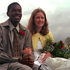 98/10/02 Home King/Queen-Rachel naber Photo-MJarcques Johnson and Maggie Mazur were selected as homecoming King and queen.