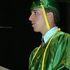 6/25/97--LEWPORT GRADS--DAN CAPPELLAZZO PHOTO--LEWPORT CLASS OF 97 SALUTATORIAN JEFFREY MARTINEZ DELIVERS HIS SPEACH TO HIS FELLOW CLASSMATES AT ARTPARK THEATRE.<br /> <br /> LOCAL