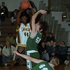 97/01/14 Nichols at LaSalle 2 - James Neiss Photo - #44Jason Seaberry trys to put one past Nichols #50  Nick Laettner & #44 John Kloepfer.