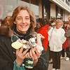 98/02/27 New Beanie's *Dennis Stierer Photo -  Debbie Carr from Sanborn was No. 12 in line to get in Enchanted Florist to get the latest Beanie Babies that came out. She came at 8:00AM to get in line as others had arrived as early as 6:30AM.  The store does not open till 9:00AM.