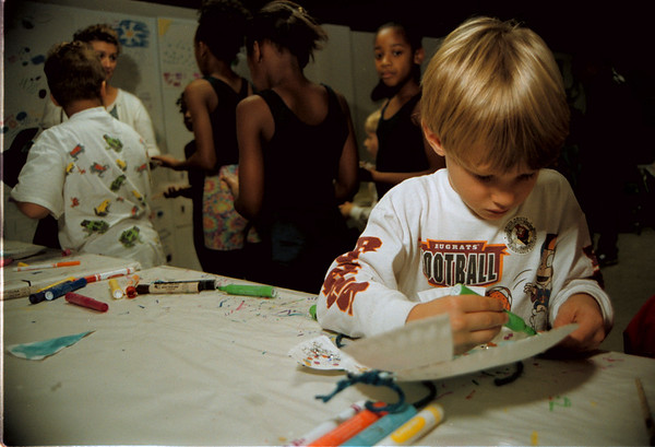 98/10/03 See& Do Fest-Rachel Naber Photo- Nathan Evers, 4 came to the Niagara Falls aquarium See and Do Festival with his family. The fesival offered kids the chance to make crafts and learn about different aquatic animals.