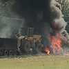97/08/97 Truck Car Accident - James Neiss Photo - A truck is in flames after an accidet across from 6369 Nash Road.