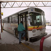 97/01/15 Metro Bus - James Neiss Photo - Passangers board the Metro Bus at the NF bus station.