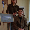 98/1/28-HS ARTS-Rachel Naber Photo-John Granchelli (bottom) and Amanda Salmeri both seniors from Lockport High School particapated and placed at the county art show held at the Kenan Art Center in Lockport.