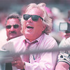 6/25/97--bisons 3--Takaaki Iwabu photo-- Bison's owner in stand during the Wednesday's game.