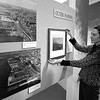 "3/19/97--HISTORICAL MUSEUM--DAN CAPPELLAZZO PHOTO--JUDY JUNGLE OF THE BFLO HISTORICAL MUSUEM HANDS  THE ""OUTER HARBOR"" PORTION ON  THE CHANGES EXHIBIT.<br /> <br /> FRI FEATURE"