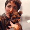 "2/19/97-- y. terrier-- Takaaki Iwabu photo-- Phillis Burgio, a chiropractor, takes a walk with her 8-weeks Yorkshire Terrier ""Jack"" in front of her office on Main St. Wednesday. <br /> <br /> Grapevine photo"