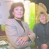 1/19/97-- Aquqrium --Takaaki Iwabu photo-- Maureen Kellick, left, director of community relation and marketting, and Nancy Chapin, exective directorof Aquarium of  Niagara, stands in front of one of the exihition. (For Don's story on Aquarium and tourism 97)<br /> 1a, Sunday
