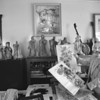 1/22/97 Polly King - James Neiss Photo - Don King, son of artist, shows off some of his mothers work in her home turned gallery.