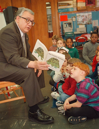 2/19/97 LaFalce Reading - James Neiss Photo - Congressman John LaFalce reads to 1st graders at the Henry J. Kalfas Elementary School.
