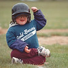 5/30/97-- H. baseball 4 --tak photo-- Ryan Farrell shows his emotion as he reached to the third base.