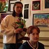 98/1/19 Bud ART2-Rachel Naber Photo-Chloe Nikoden (left) and Sean Hayden of Emmet Belknap School at Kenan Art Center.
