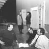 2/25/97--NF THEATER--DAN CAPPELLAZZO PHOTO--(LTOR) FRONT, CHAIRMAN FO THE BOARD FOR THE NF THEATER FRAN NEWTON, CO-DIRECTORS AL PICCIRILLO AND BOB KAZEANGIN DISCUSS THE SCRIPT AS (LTOR) BACK DIANE McGOVERN AS MAMAROSE AND DAWN MARCOLINI-NEWTON AS GYPSY (AND CHOREOGRAPHER) GO OVER THEIR LINES FOR AN UPCOMMING PLAY.<br /> <br /> LOCAL