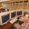 5/2/97 Power Authority - James Neiss Photo - L-R - Senior Operator Paul Boudreau and Control Room Operator Philip Valore,  both work in the Power Authority Controll Room.