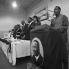 "1/20/97 King Lunceon - James Neiss Photo - Tony Newsome sings the ""Negro National Anthom"" before the beginning of Lunch at the 15th Annual Dr. Martin Luther King, Jr. Luncheon at the Niagara Community Center association, Inc. on Center Ave at 15th St."