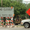 98/07/27 Walnut Street Work *Dennis Stierer Photo -<br /> Traffic has been going around the signs on Walnut street, so the work progress has been slower than should be. This photo was taken from Davison Road towards Walnut Street.