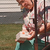 97/08/19--BLOOD DRIVE--DAN CAPPELLAZZO PHOTO--BLOOD TRANSFUSION RECIPIENT MARGARET SEIT, OF 83RD STREET, LOOK OVER BLOOD DRUGS THAT DID NOT WORK TO HELP REDUCE THE AMOUNT TRANSFUSIONS SHE RECEIVES.<br /> <br /> 1A NEWS