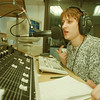 98/02/03--The River 2--Takaaki Iwabu photo-- Diane Park, music director, on the air. <br /> <br /> b&w