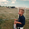 7/27/97--SOCCER1--DAN CAPPELLAZO PHOTO--6-YR-OLD JACOB KUZAK WAITS HIS TURN TO GET INTO THE GAME AT THE LITTLE LEAGUE SOCCER FIELDS AT LASALLE HIGH.<br /> <br /> FEATURE