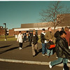 98/12/01 NCCC Bomb Threat 2 - James Neiss Photo - Students and faculty evacuate the buildings at Niagara county community college due to a bomb threat. The bomb threats have been coming a couple of times a week for the last few weeks.