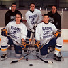 99/01/05 NU Power Players-Rachel Naber Photo-Mike Isherwood (front/left), Mikko Sivonen (front/right), Timo Makela (back/left) , Riku Suuriniemi (middle), Chris Mackenzie (back/left) of Niagara University are the teams power players.