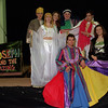 "98/03/19 LHS-Joseph Play *Dennis Stierer photo - Some of the leads for the Lockport High School production of ""Joseph and the Amazing Technicolor Dreamcoat"".  In the center seated is ""Joseph"" played by David Miller; standing around him from the left are Nathan Urback (Reuben);  Megan Ferrington (Mrs. Potiphar); Christen Lewiss (Narator);  Aaron Randolph (Jacob);  Courey Penna (Pharoh);  and Nicole Roussie (Narator)."