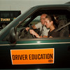 98/08/06 Driver Education - James Neiss Photo - Dr. Robert Franke instructs Kathryn LaScala 16yrs, going into 11th grade, in Driver Education. Wheatfield Schools.