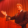 4/10/97 Geoffrey Fieger 2 - James Neiss Photo - Dr. Jack Kevorkian's Lead Attorney speaks to Niagara County Community College students.